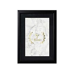 Ryman Personalised Mounted Frame with Marble Names Crest