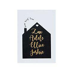 Ryman Personalised Unmounted Print Home Sweet Home