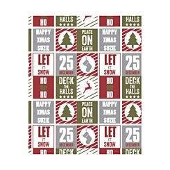 Ryman Personalised Wrapping Paper Christmas Collage 1 Metre x 1 Metre