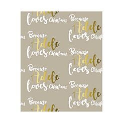 Ryman Personalised Wrapping Paper Loves Christmas 1 Metre x 1 Metre