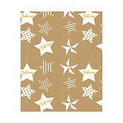 Ryman Personalised Wrapping Paper Stars 1 Metre x 1 Metre