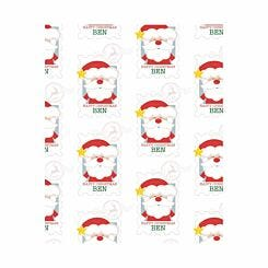 Ryman Personalised Wrapping Paper Santa Stamp 1 Metre x 50cm
