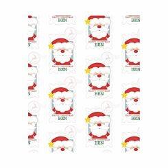 Ryman Personalised Wrapping Paper Santa Stamp 1 Metre x 50cm