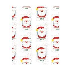 Ryman Personalised Wrapping Paper Santa Stamp 1 Metre x 1 Metre
