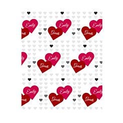 Ryman Personalised Two Hearts Wrapping Paper 1 Metre x 1 Metre