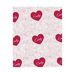 Ryman Personalised Scattered Hearts Wrapping Paper 1 Metre x 50cm