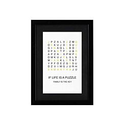 Ryman Personalised Mounted Frame Family Crossword
