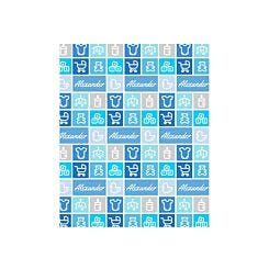 Ryman Personalised Wrapping Paper Baby Boy 1 Metre x 50cm