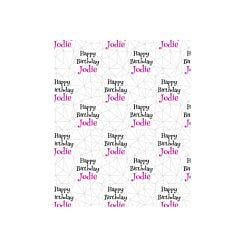 Ryman Personalised Wrapping Paper Geometric Pink 1 Metre x 50cm