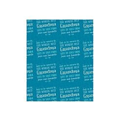 Ryman Personalised Wrapping Paper The Worlds Best 1 Metre x 50cm Teal