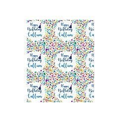 Ryman Personalised Wrapping Paper Birthday Confetti 1 Metre x 1 Metre