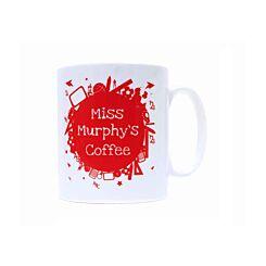 Ryman Personalised School Subjects Teacher Name Mug