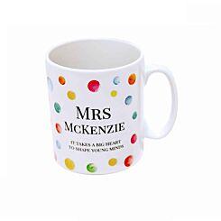 Ryman Personalised Paint Spots Teacher Name Mug