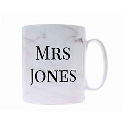 Ryman Personalised Marble Title and Surname Mug