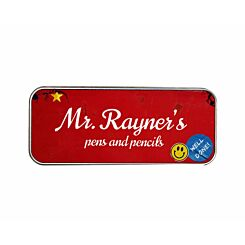 Ryman Personalised Nostalgic Name and Contents Pencil Tin