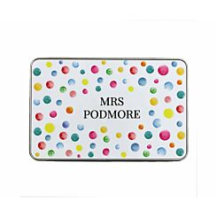 Ryman Personalised Paint Spots Name Pencil Tin Large