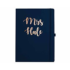 Ryman Personalised Soft Cover Large Notebook Title and Name in Copper Foil