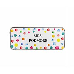 Ryman Personalised Paint Spots Name Pencil Tin