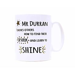 Ryman Personalised Learn to Shine Teacher Name Mug