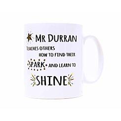 Ryman Personalised Learn to Shine Teacher Name Mug