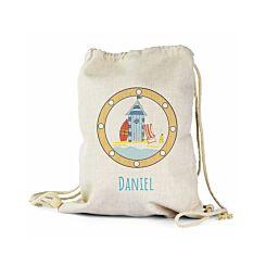 Ryman Personalised Seaside Drawstring PE Gym Bag