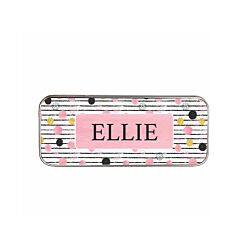 Ryman Personalised Spots and Stripes Pencil Tin