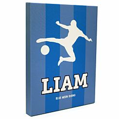 Personalised Football Guys Canvas Picture 12x16 Blue