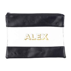 Ryman Personalised Black Pencil Case with Gold 3D Style Font