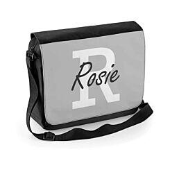 Ryman Personalised Grey Initial Shoulder Bag