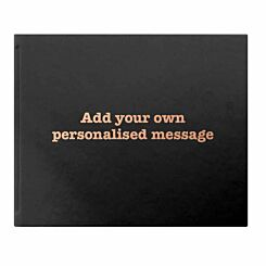 Letts Dazzle Personalised Occasions Typewriter Font Black Copper