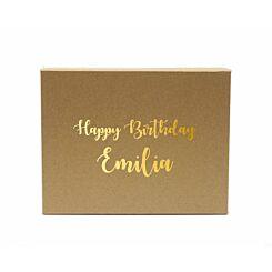 Personalised Gift Box Elegant Font Craft Gold