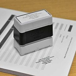 Brother Personalised Stamp 22mmx60mm Black