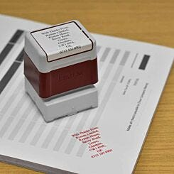 Brother Personalised Stamp 40mmx40mm Red