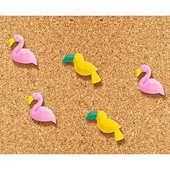 Tropical Push Pins Pack of 5