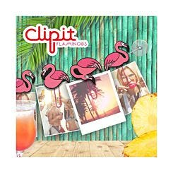 Clipit Flamingos Hanging Photo Clips Set of 6