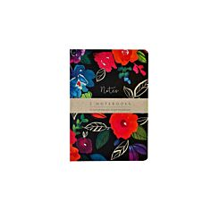 The Notebook Collection Set of 2 Exercise Books Bold Floral