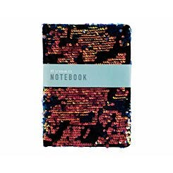 Ryman Black Flippable Sequin and Velvet Notebook A5