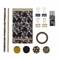 Black and Gold Stationery Set
