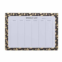 Black and Gold Weekly Planner A4