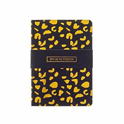 Black and Gold Notebooks A6 Pack of 3