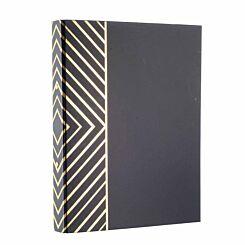 Black and Gold Stripe Ringbinder
