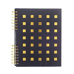 Black and Gold Spiral Notebook Ruled A4