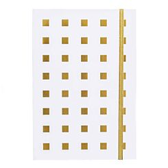 Black and Gold Notebook Ruled A5 White