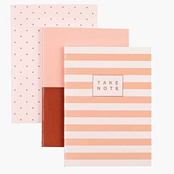 A6 Notebook Pack of 3