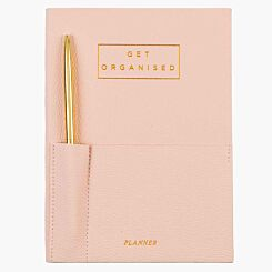 Undated Planner with Gold Metal Pen