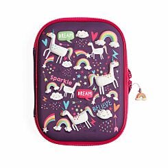 Unicorn Dreams 3D Hardtop Pencil Case Filled