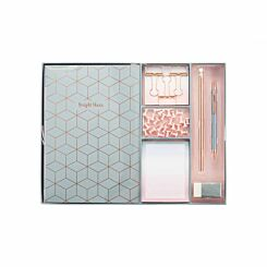 Large Stationery Gift Set Geometric Pink/Grey