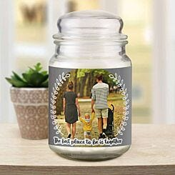 Personalised Better Together Photo Candle Jar