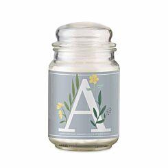 Personalised Floral Initial Candle Jar