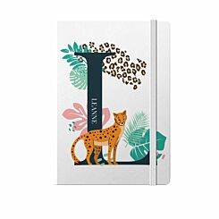 Personalised Leopard Initial Notebook